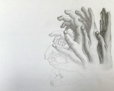 Pohybová štúdia ruky
